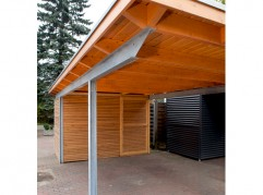 stahlcarports mit holz - kwp caports, Moderne