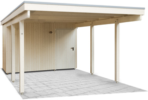 holzcarports nadelholz leimholz mit und ohne stahlblech kwp caports. Black Bedroom Furniture Sets. Home Design Ideas