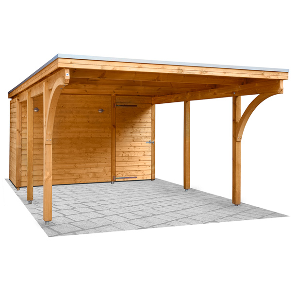Nadelholz kwp caports for Carport bedachung