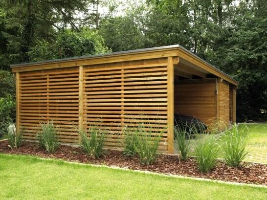 schönes Holz Carport